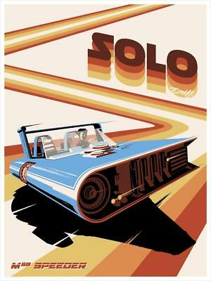 SDCC 2018 A Star wars Story Solo Drift Steve Thomas Poster Print SIGNED + COA