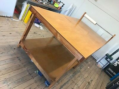 Timber work bench, production table, wooden work table