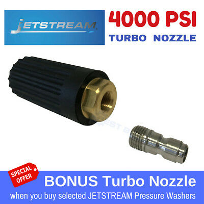 PRESSURE WASHER JETSTREAM TURBO HEAD NOZZLE for High Pressure Cleaner 4000PSI