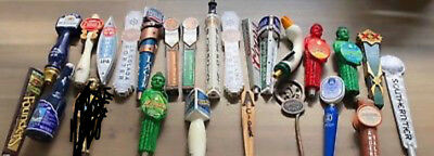 Lot of 24 craft beer tap handles - Funky Buddha, Founders, Southern Tier