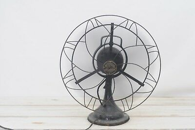 "Antique/Vintage Hunter Century Fan Oscillating Brass 20"" Table Fan Works"