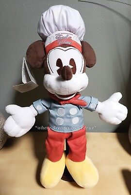 Disney Parks Plush - Epcot Food And Wine Festival 2016 - Chef Mickey (NEW)