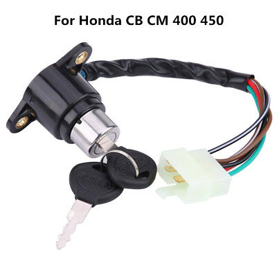 Motorcycle Ignition Key Switch Lock With 2 Unlocked Keys For Honda CB/CM 400/450