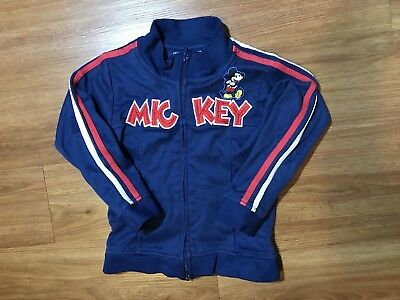 Mickey Mouse Zip Up Kids Size 5 Toddler Boys Girls Disney