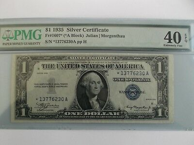 $1 1935 (STAR) Note. Silver Certificate PMG 40  EPQ! Fr. 1607*