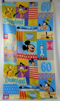 Disney Disneyland 60th Anniversary Diamond Celebration Beach Towel New