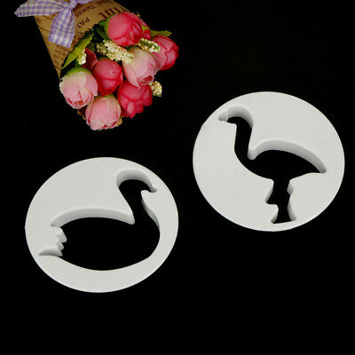 Swan Flamingo Plastic Cookie Cutter Fondant Cutters Mold Cake Decorating Tool HT