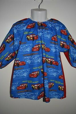 Child's Lightening McQueen art smock, size 3-5 - handmade