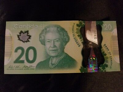 Canadian $20 Dollar Bank Note Polymer Bill FSF4952361 Circulated 2012 Canada
