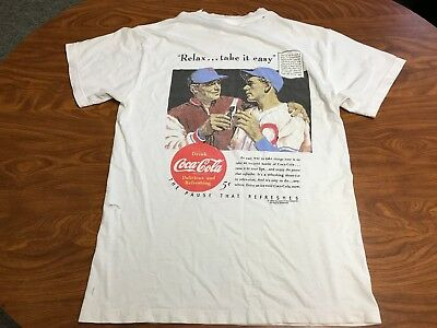 Mens Vintage 90's 1994 Coke Coca Cola Soda Drink White Baseball Shirt Size Xl