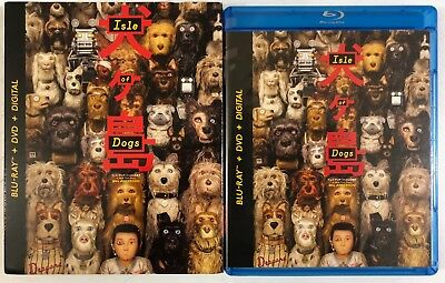 Isle Of Dogs Blu Ray Dvd 2 Disc Set + Slipcover Sleeve Free World Wide Shipping