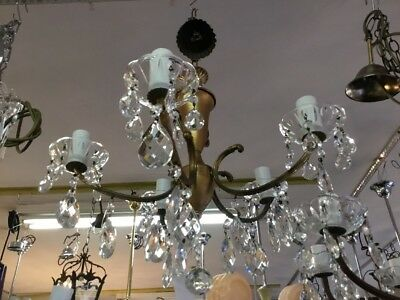 VINTAGE CHANDELIER HALLWAY BEDROOM 5 LOUNGE ROOM LIGHT FRENCH CRYSTAL No.122