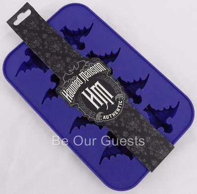Disney Parks Haunted Mansion Silicone Ice Tray Mold Bats New Halloween
