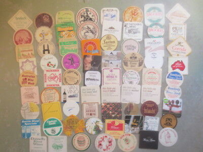70 different  AUSTRALIAN Wines 1960,s - 80,s Issued  Advertising COASTERS
