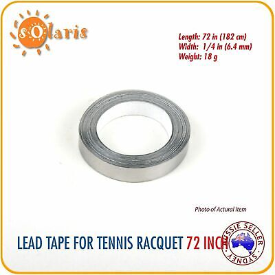No Frills Tennis Racket LEAD TAPE 72 Inch Roll Add Weight & Power to Racquet
