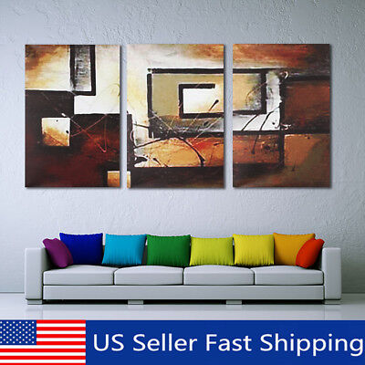 3Pcs Modern Canvas Abstract Print Wall Art Painting Picture Home Decor Unframed