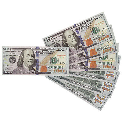 PROP MONEY Real Looking  NEW STYLE $100s FULL PRINT Stack Double-Sided Printing
