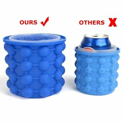 Hot Ice Cube Maker Bucket Silicone Genie Revolutionary Kitchen Tool Space Saving