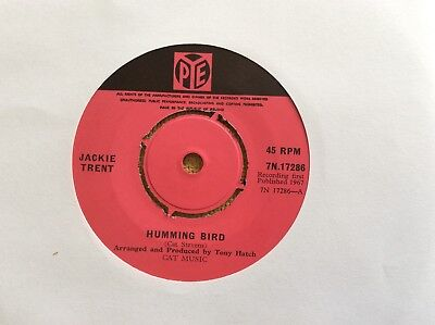 "Jackie Trent, Humming Bird/I'll Be With You, 1967 Irish 7"", PYE 7N.17286"