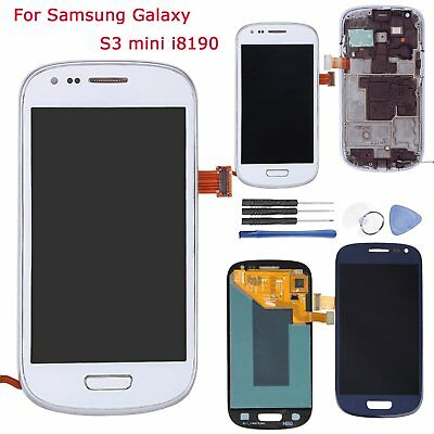 Schermi Display LCD Touchscreen Digitizer Frame per Samsung Galaxy S3 Mini i8190