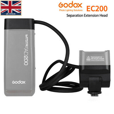 UK Godox EC200 AD200 Separation Extension Head with Hot Shoe Remote for AD200