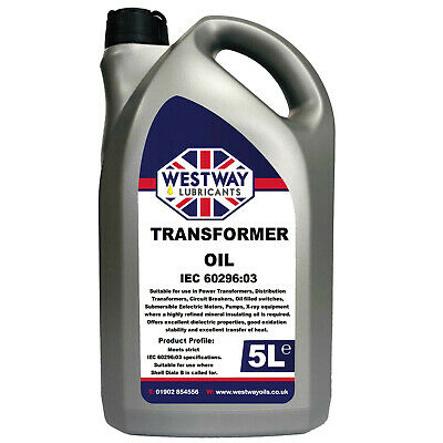 Transformer Oil Insulating Dielectric Oil High Voltage Mineral 5L - 5 Litres