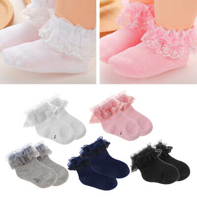 Newborn Baby Cotton Socks Lace Princess Combed Socks for Girls Infant Babe Socks
