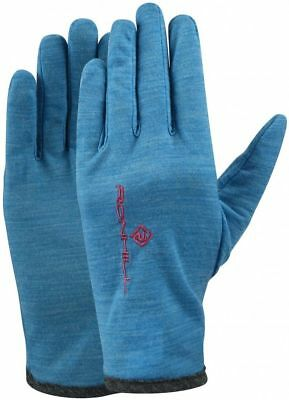Ronhill Merino Lightweight Running Gloves - Blue *NEW*