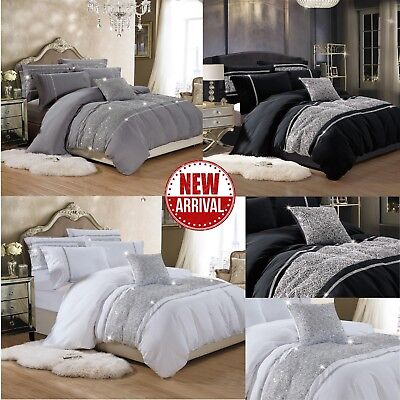 Luxury Duvet Cover with Pillow Case Quilt Cover Bedding Set Double and King Size