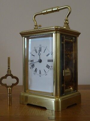Super antique Margaine repeater carriage clock - c. 1865/70 - fully overhauled