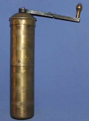 Antique Islamic Ottoman Hand Made Brass Mill Coffee Nuts Grinder