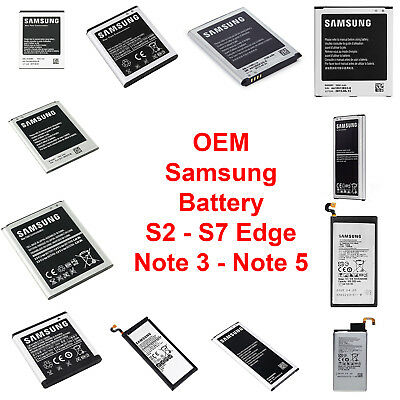 OEM NEW Original Samsung Battery Replacement Galaxy Note 3 4 5 S2 S3 S4 S5 S6 S7