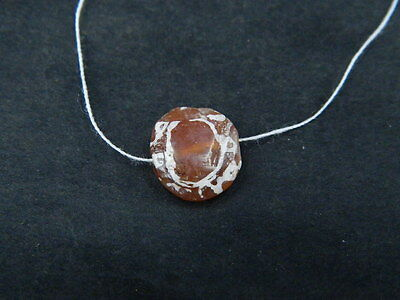 Ancient Etch Carnelian Bead Roman 200 BC No Reserve  #BE5052