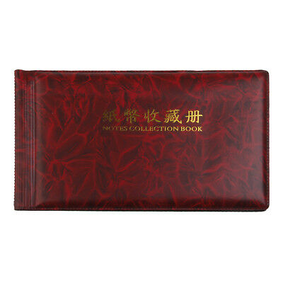 30 Pages Paper Money Currency Banknote Collection Album Pocket Wallet Holder