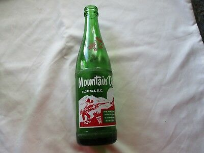 1964 Mountain Dew Hillbilly Soda Bottle # 279.1  FLORENCE, S.C.  12 oz