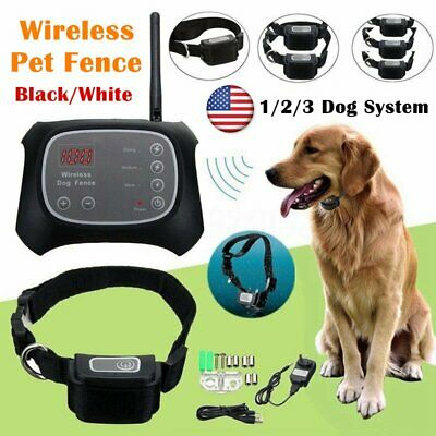 Wireless Dog Fence Pet Containment System Electric Transmitter Collar BT#