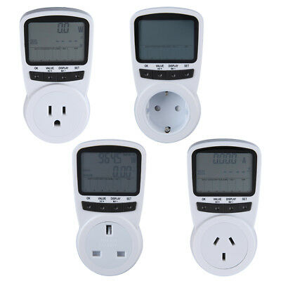 TS-1500 Electronic Energy Meter LCD Energy Monitor Plug-in Electricity Meter CN@