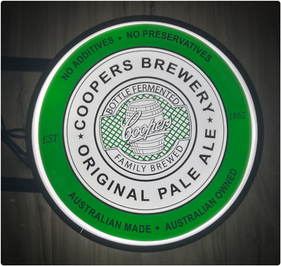 Coopers Original Pale Ale LED Double Sided Lightbox Light Box 240v 400mm