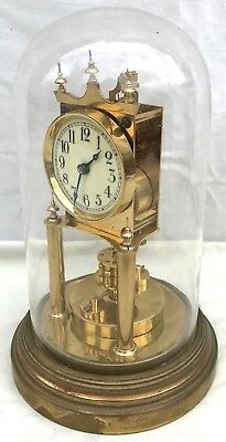 Gustav Becker 400 Day Anniversary torsion clock with Original Glass Dome