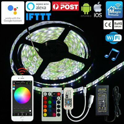 1M-10M RGBW Self-Adhesive Waterproof Flexible LED Strip Smartphone Wifi Control