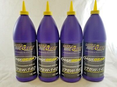 4 Pack of Royal Purple Max Gear 75W140 Quart 6301