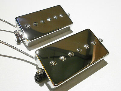 Humbucker Sized P90 Pickups SET Hand Wound PAF Size Single Coil Q Bridge Neck