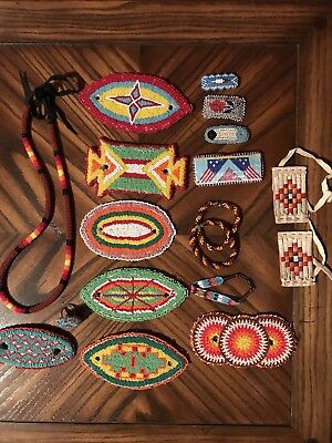 Vintage Native American Bracelets, Hair Ties, Barrets, Necklace, Ring