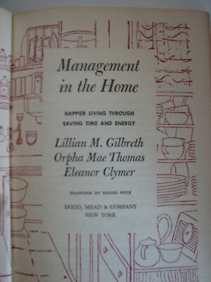 """""""Management in the Home"""" First edition 1954 catalog card #54-10563"""