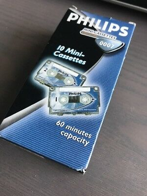 Philips Mini Cassettes 60 Minuten Neu 007 10 Mini Kassetten