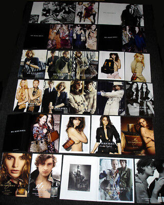 BURBERRY Fashion & Fragrance MAGAZINE PRINT ADS Clipping Set - Over 75 PAGES!