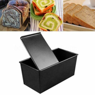 Non-stick Bread Loaf Pastry Cake Box with Sliding Lid Baking Pan Bakeware SY