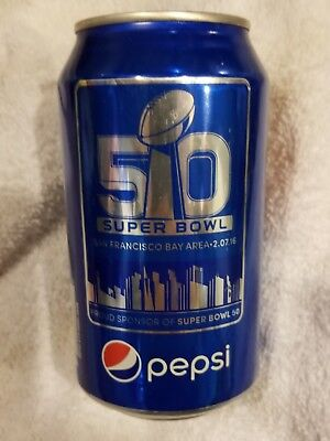 Pepsi Can Empty Superbowl L 50 LEVI STADIUM 49ers.  Broncos, Panthers