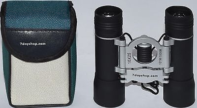 (484) 7 DAY SHOP 10X25 BINOCULARS 101m/1000m (USED)