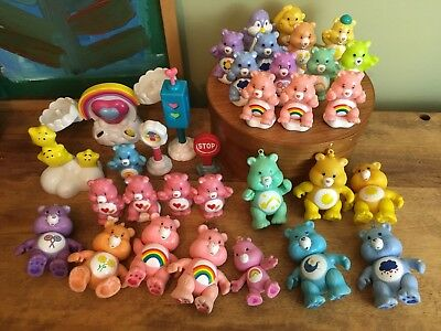 HUGE Care Bears Play Set Lot Teeter Totter & Accessories 33 Pieces
